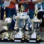 Copa Independencia Soccer Tournament trophies