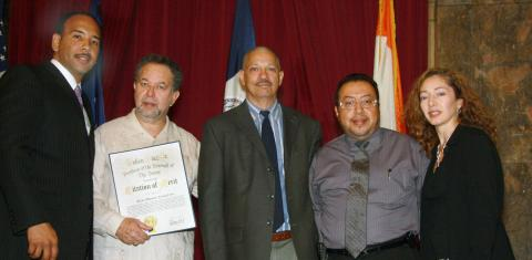 Citation of Merit presented by Ruben Diaz, Jr.